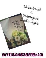 Wenn Braut und Bräutigam Danke sagen